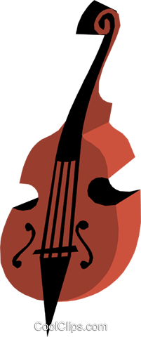 Double Bass Royalty Free Vector Clip Art illustration arts0216
