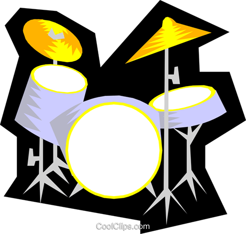 Drums Royalty Free Vector Clip Art illustration arts0218