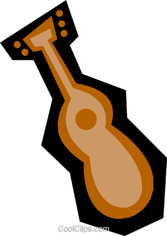 Guitar Royalty Free Vector Clip Art illustration arts0220