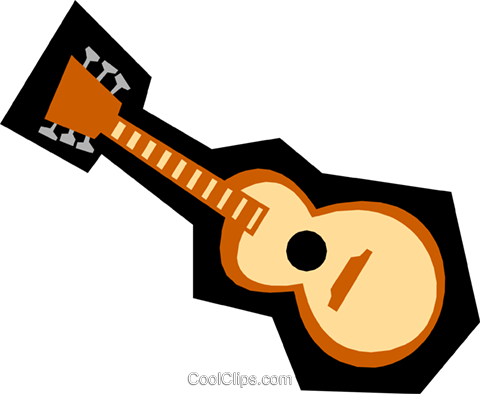Guitar Royalty Free Vector Clip Art illustration arts0222