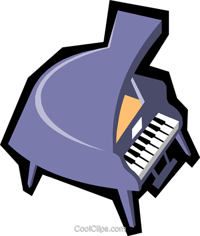 Grand pianos Royalty Free Vector Clip Art illustration arts0229