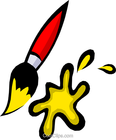 Paintbrush Royalty Free Vector Clip Art illustration arts0231