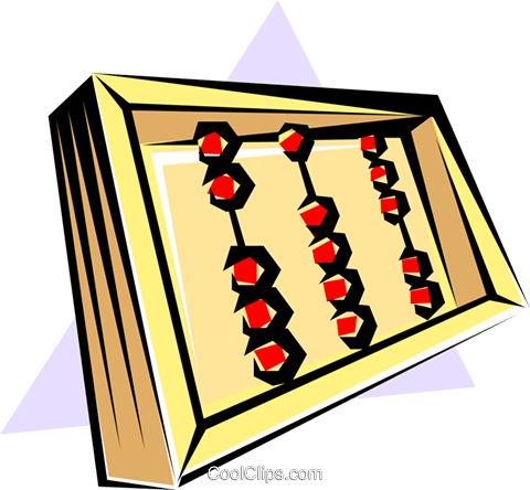 Abacus Royalty Free Vector Clip Art illustration busi0162