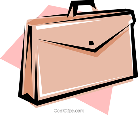 Briefcase Royalty Free Vector Clip Art illustration busi0164