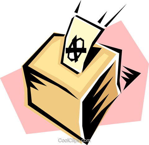 Ballot boxes Royalty Free Vector Clip Art illustration busi0165