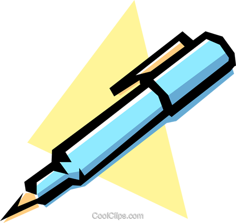 Fountain pens Royalty Free Vector Clip Art illustration busi0166
