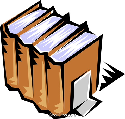 Books Royalty Free Vector Clip Art illustration busi0171
