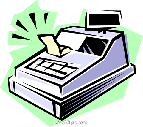 Cash register Royalty Free Vector Clip Art illustration busi0174