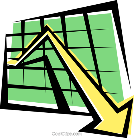 Sales charts Royalty Free Vector Clip Art illustration busi0176