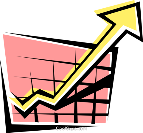 Sales chart Royalty Free Vector Clip Art illustration busi0177