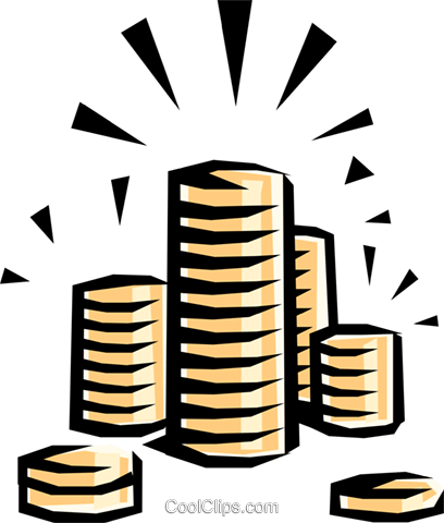 Coins Royalty Free Vector Clip Art illustration busi0181