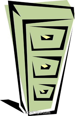 Filing cabinet Royalty Free Vector Clip Art illustration busi0193