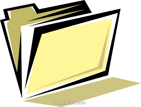 File folders Royalty Free Vector Clip Art illustration busi0194