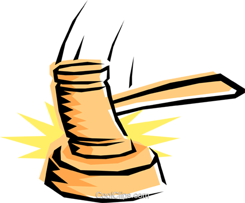 Gavel Royalty Free Vector Clip Art illustration busi0195