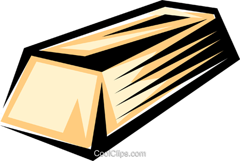 Gold bar Royalty Free Vector Clip Art illustration busi0196
