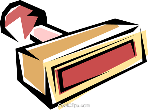 Rubber stamp Royalty Free Vector Clip Art illustration busi0198