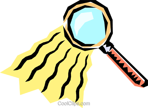 Magnifying glass Royalty Free Vector Clip Art illustration busi0202