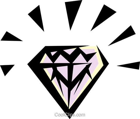 Diamond Royalty Free Vector Clip Art illustration busi0219