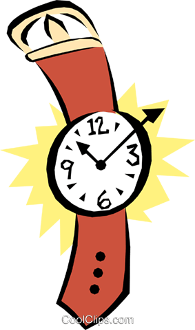 Wristwatches Royalty Free Vector Clip Art illustration busi0680