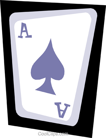 Ace of spades Royalty Free Vector Clip Art illustration busi0681