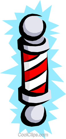Barber pole Royalty Free Vector Clip Art illustration busi0683