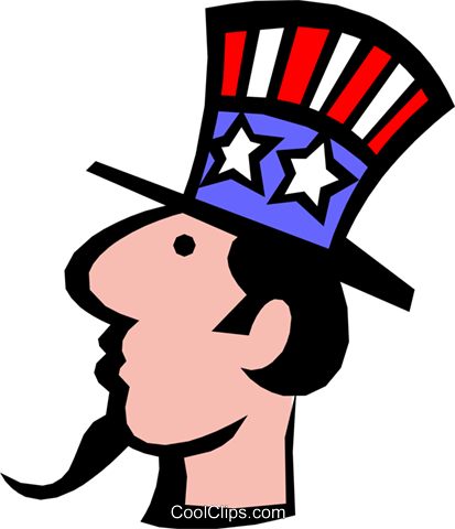 Uncle Sam Royalty Free Vector Clip Art illustration busi0684