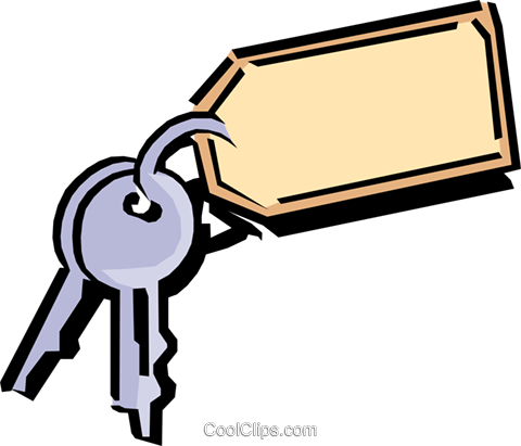 Keys Royalty Free Vector Clip Art illustration busi0685