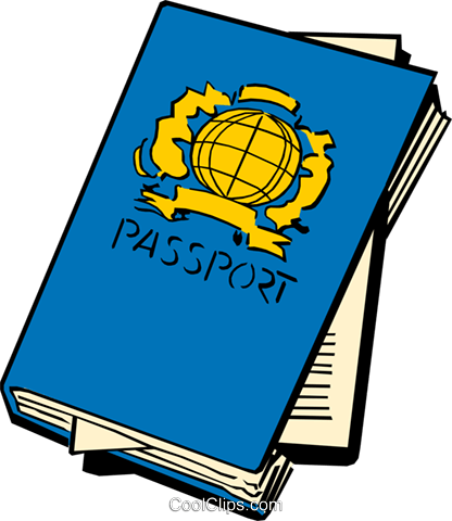 Passport and tickets Royalty Free Vector Clip Art illustration busi0687