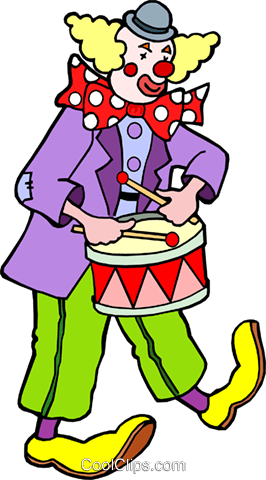 Clown Royalty Free Vector Clip Art illustration cart1156