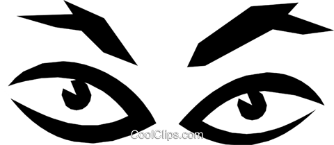 Eyes Royalty Free Vector Clip Art illustration cart1169