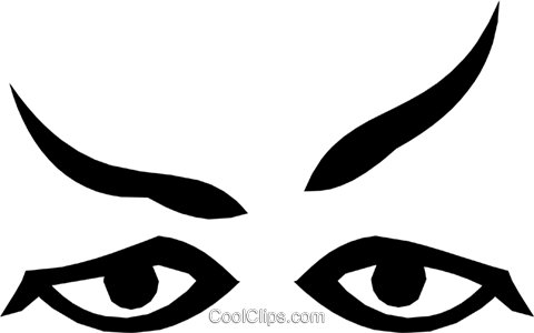 Eyes Royalty Free Vector Clip Art illustration cart1180