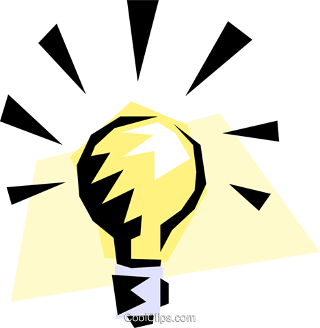Light bulb Royalty Free Vector Clip Art illustration envi0042