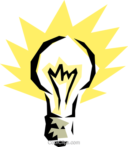 Light bulb Royalty Free Vector Clip Art illustration envi0043