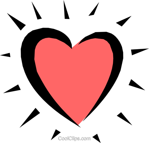 Heart Royalty Free Vector Clip Art illustration even0465