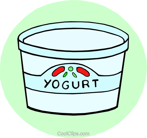 Yogurt with fruit Royalty Free Vector Clip Art illustration food0574