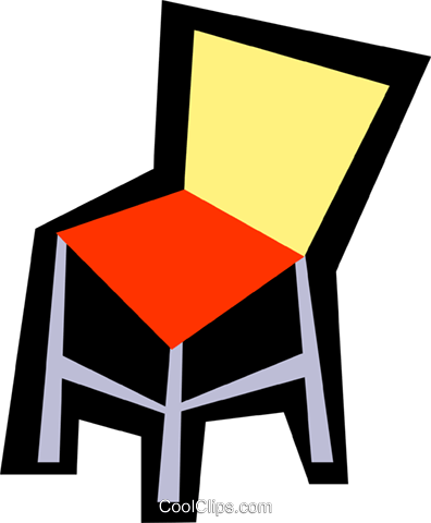 Chairs Royalty Free Vector Clip Art illustration hous0725