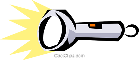 Flashlights Royalty Free Vector Clip Art illustration indu0575