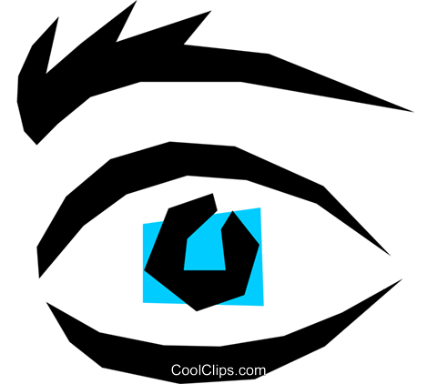 Eyes Royalty Free Vector Clip Art illustration medi0247