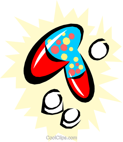 Cool pills Royalty Free Vector Clip Art illustration medi0250