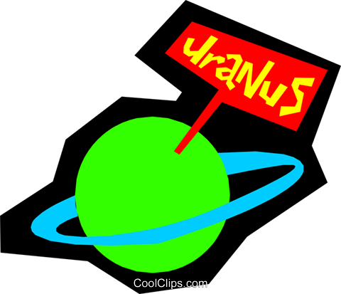 Planet Uranus Royalty Free Vector Clip Art illustration natu0431