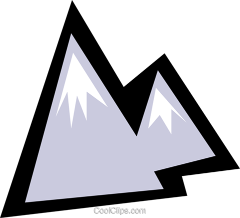 Mountains Royalty Free Vector Clip Art illustration natu0434