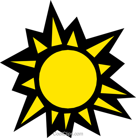 Sun Royalty Free Vector Clip Art illustration natu0437