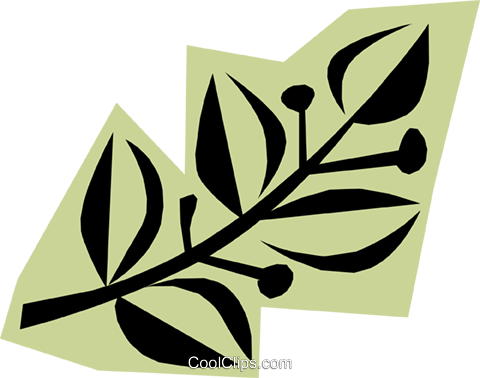 Leaves Royalty Free Vector Clip Art illustration natu0454