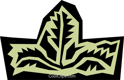 Leaves Royalty Free Vector Clip Art illustration natu0464