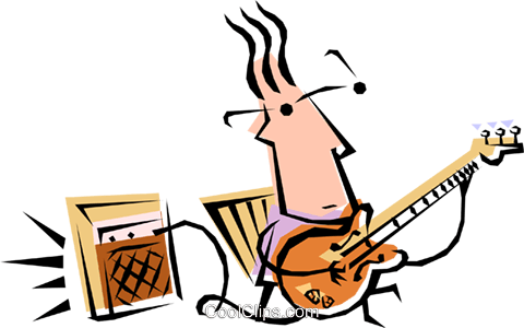 Cool guitar player Royalty Free Vector Clip Art illustration peop1219