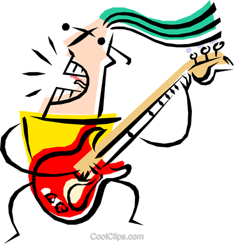 Cool guitar player Royalty Free Vector Clip Art illustration peop1220