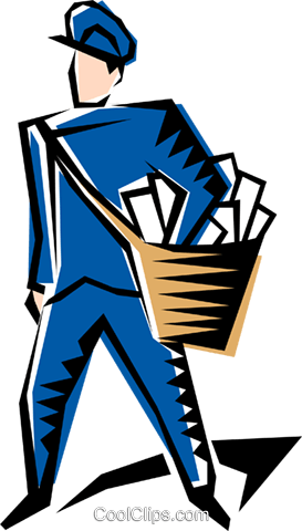 Postman Royalty Free Vector Clip Art illustration peop1230