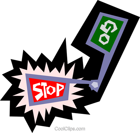 Stop and go sign Royalty Free Vector Clip Art illustration tran0432
