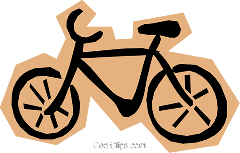 Bicycle Royalty Free Vector Clip Art illustration tran0437