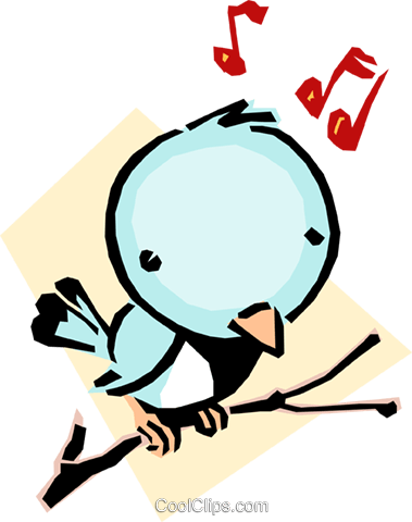 Cartoon bird Royalty Free Vector Clip Art illustration anim1064